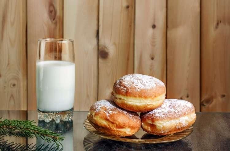 Классические суфганиёт на Хануку - рецепт и ингредиенты (молочное)