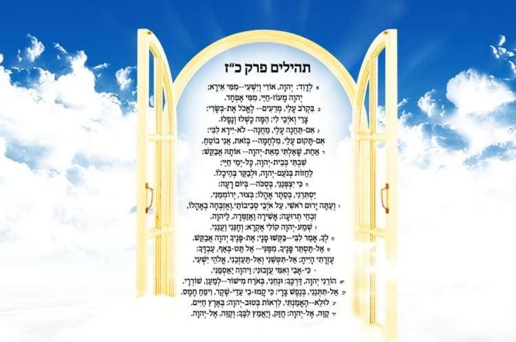 Сгула на месяц Элул - Псалом 27 в Теилим откроет врата милосердия